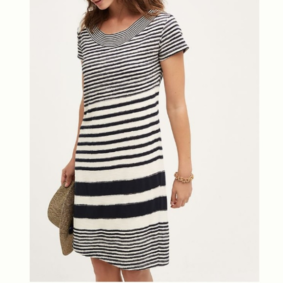 56574036234 Anthropologie Dresses   Skirts - Anthro Maeve M Haven Striped Shift Sweater  Dress
